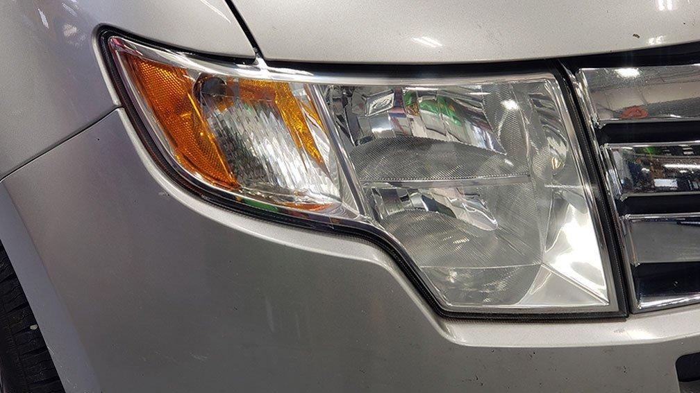 Headlight Refurbishment After Pic from Martins Auto Service Anna IL