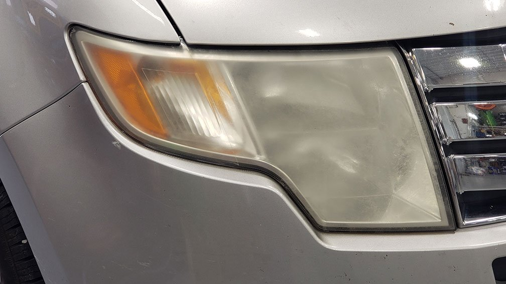 Headlight Refurbishment Before Picture from Martins Auto Service Illinois